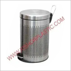 Stainless Steel Pedal Perforated Dustbin