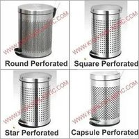 Stainless Steel Perforated Pedal Dustbin