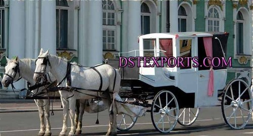 Beautiful Wedding Covered Carriage