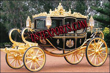 Beautiful Gold Royal Carriage