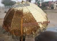 Wedding Decorated Golden Umbrella
