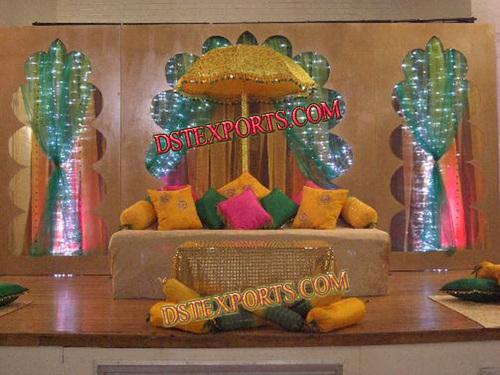 Wedding Stage Gold Umbrella