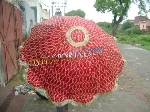 Wedding Red Embroidered Umbrellas