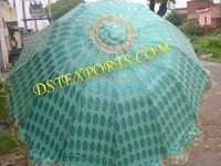 Wedding Sky Blue Embroidered Umbrella