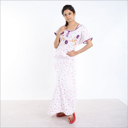 Pure cotton Embodiery Nighty