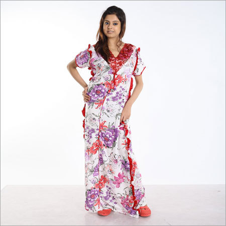 Rayon Printed Nighty