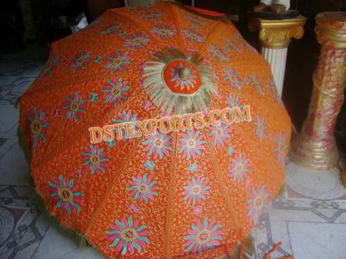 Wedding Embroidered Orange Umbrella