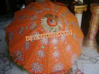Wedding Embroidered Orange Umbrella