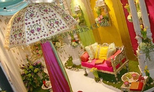 Wedding Stage Embroidered Umbrellas