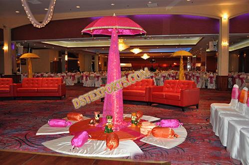 Indian Mehandi Stage Umbrellas