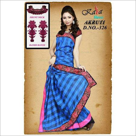 Fancy Blue Saree