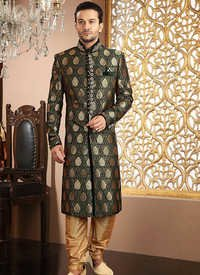 Excellent Banarasi Silk Sherwani