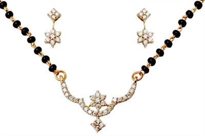 Mangalsutra Diamond Necklace Jewelry