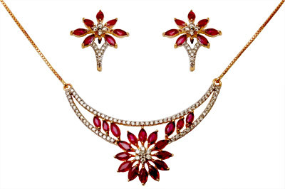 Fashion Ruby Gold Diamond Jewelry