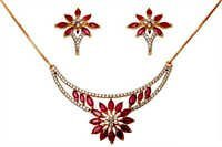 Fashion Ruby Gold Diamond Jewelry