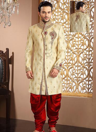 Stylish Banarasi Silk Sherwani