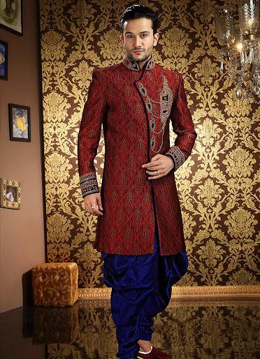Magnificent Banarasi Silk Sherwani