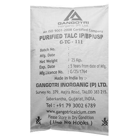 Purified Talc IP/BP/USP