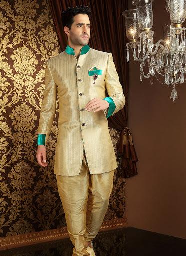 Appealing Banarasi Silk Sherwani