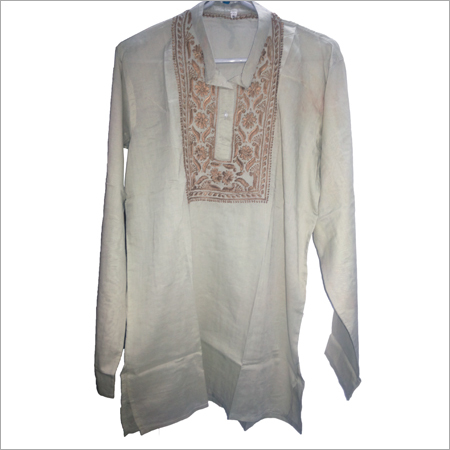 Mens Embroidered Short Kurta