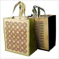 Printed Jute Shopping Bags
