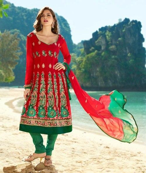 Anarkali Dress On Georgette Material