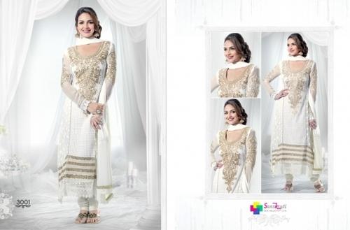 Fancy kranchi work on Anarkali Partywear Dresses