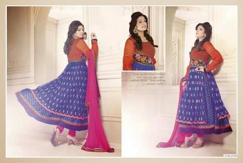 Raveena Tandon Party Wear Anarkali Dress