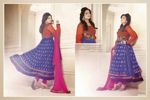 Raveena Tandon Party Wear Anarkali Dress