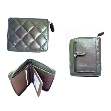 Stone polished leather wallet