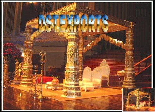 Indian Wedding Golden Devdas Mandap