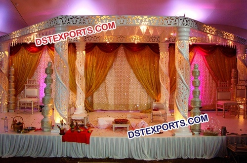 Indian Wedding Fiber Crystal Mandap