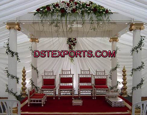 Wedding Roman Pillars Mandap