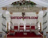 Wedding Roman Pillars Mandap