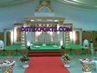 Wedding White Golden Roman Mandap
