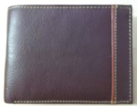 Designed Upper Leather Bifold Wallet