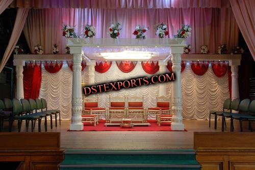 Indian Wedding Round Pearl Mandap