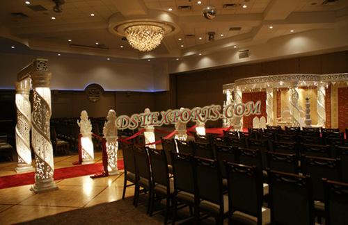 Wedding Fiber Crystal Mandap Full Set