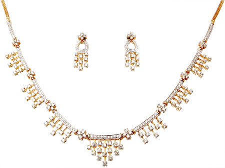 Gold Indian Diamond Necklace Sets