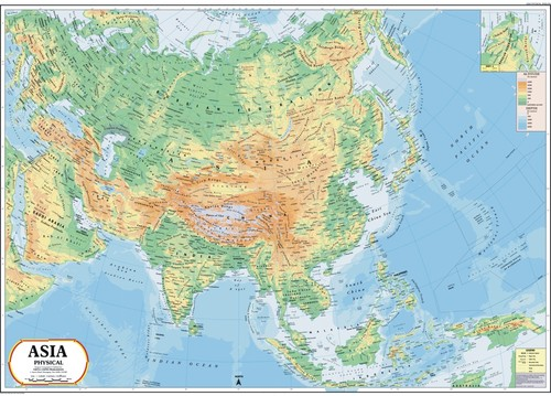 Asia Physical Map Asia Physical Map Exporter Manufacturer