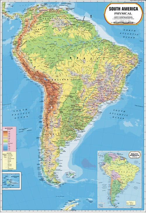 South America Physical Map - South America Physical Map Exporter ...