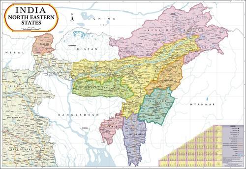 Jammu & Kashmir Political Map
