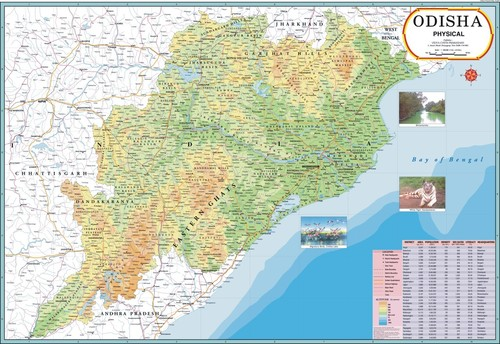Odisha Political Map