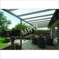 Cafe Sitting Area Glass Roof Canopy