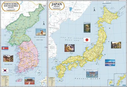 Japan-North Korea-South Korea Map