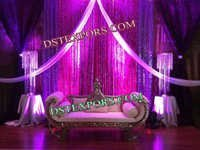 INDIAN WEDDING CRYSTAL BACKDROP STAGE SET