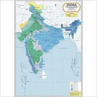 India Annual Rainfall & Temperature Map
