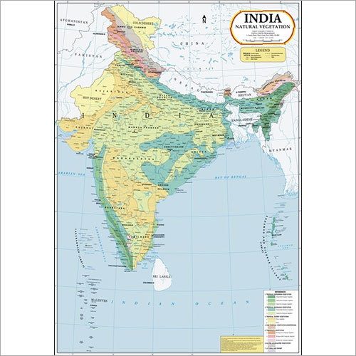 India Natural Vegetation Map