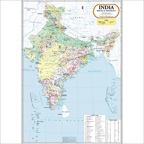 India Rocks & Minerals Map