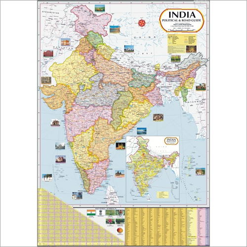 India Political & Road Guide Map